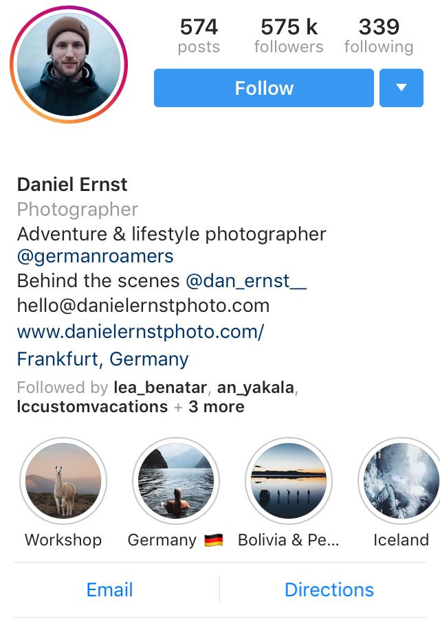 Instagram Influencer @daniel_ernst