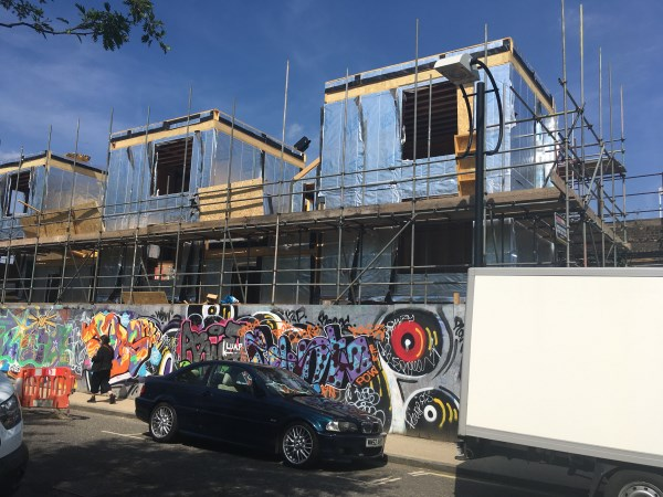 Blenheim Grove  is a development of five customisable terrace houses in Peckham and will be delivered as shells with owners managing the fit out to suit their taste and budget.