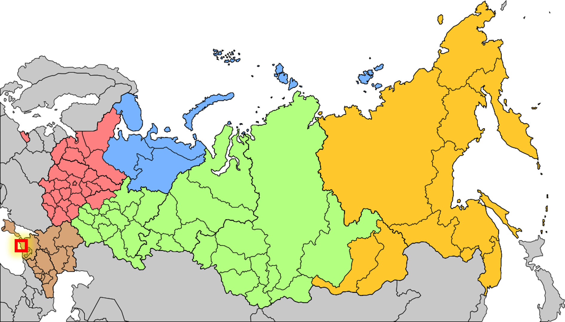 Locator Bottom-left, across from crimea
