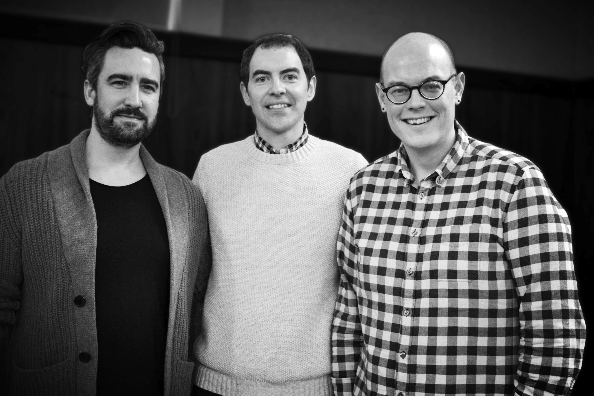 l-r   Jonathan Middleton, Peter Fullerton, Stuart Beggs