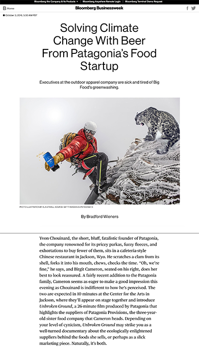 Bloomberg Businessweek | Patagonia Provisions