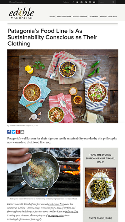 Edible Manhattan | Patagonia Provisions