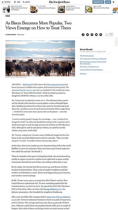 The New York Times | Patagonia Provisions
