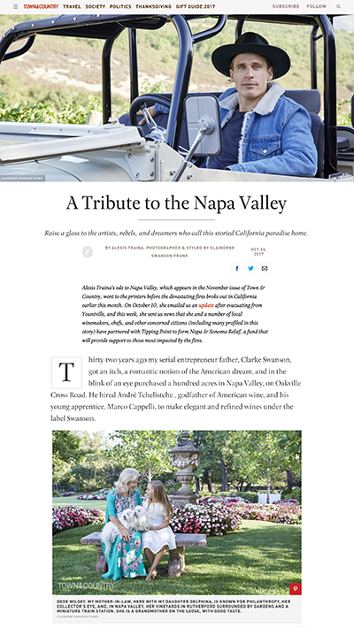 Town & Country | From Napa With Love