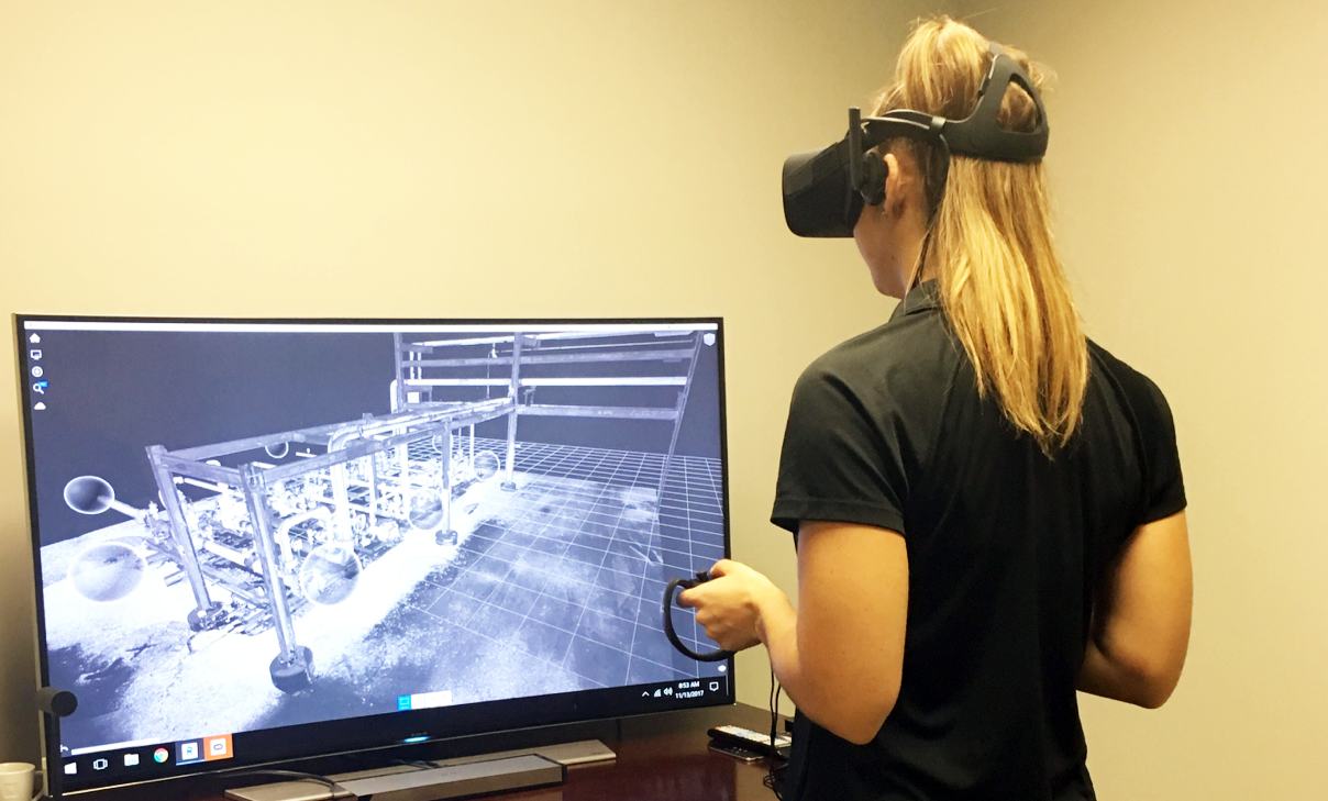 as built modeling scanning point cloud facility virtual reality vr visualization gis cad rev
