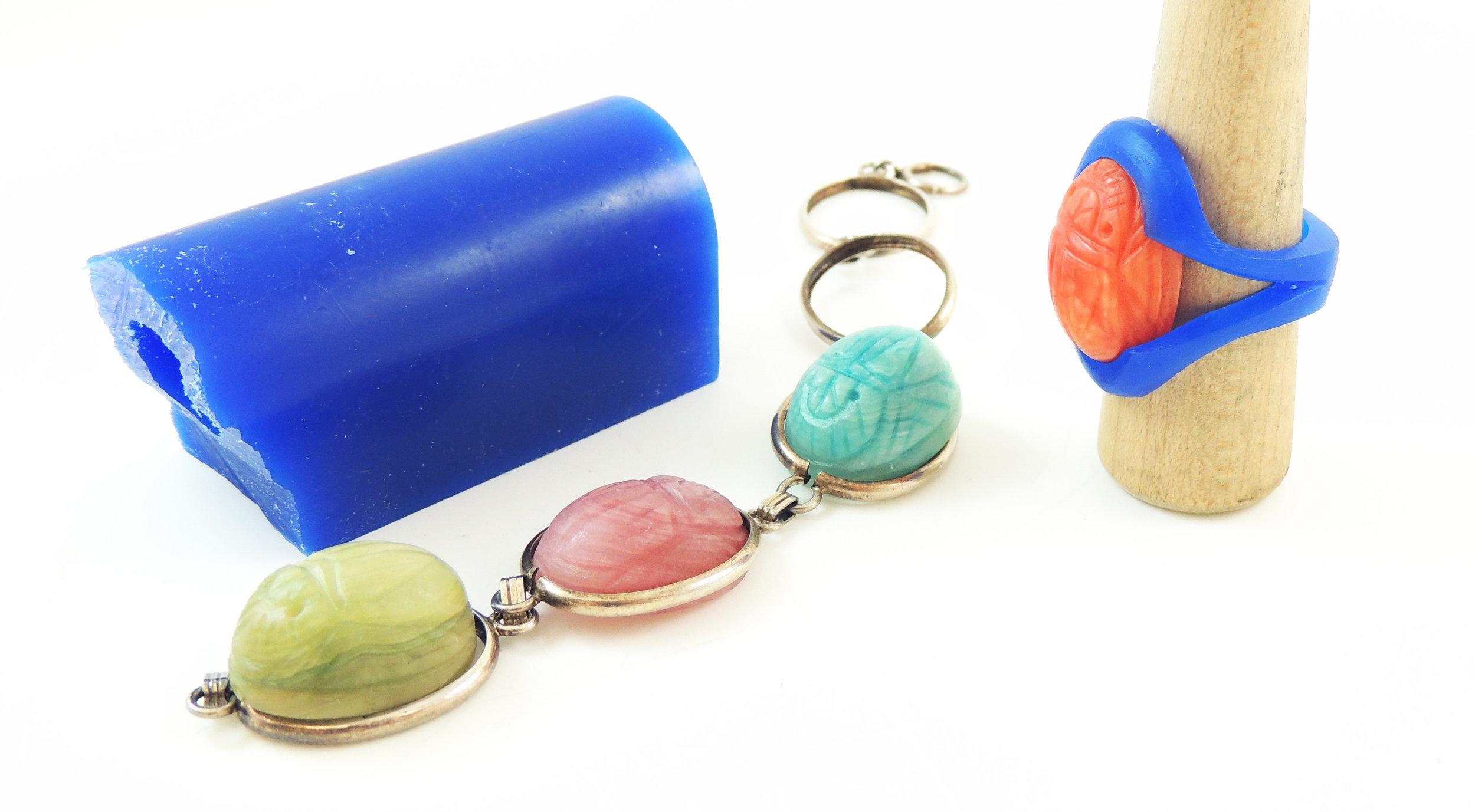 Beloved Scarab Bracelet- Before