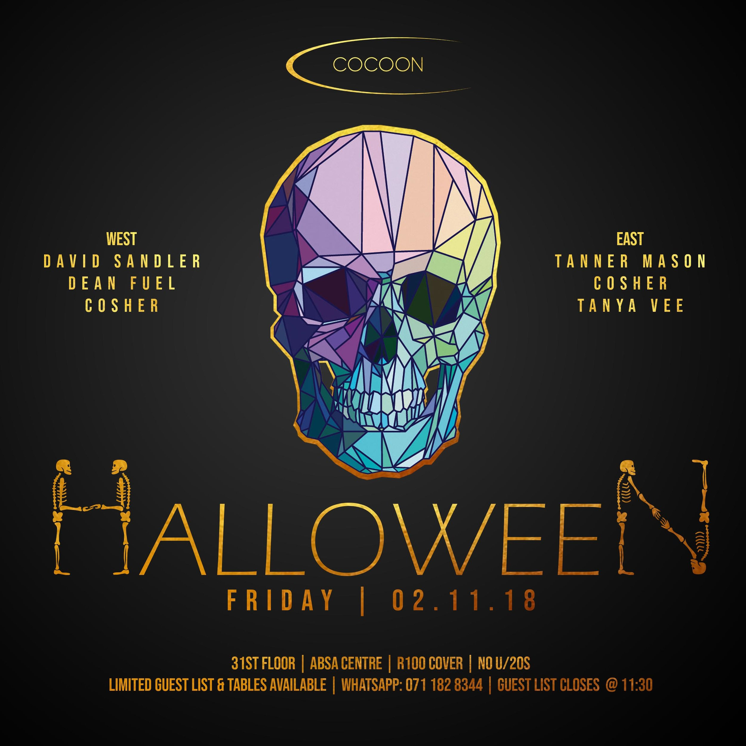 This Friday, we're celebrating Halloween in style!  The best dressed group on the night will receive a complimentary bottle and mixers!