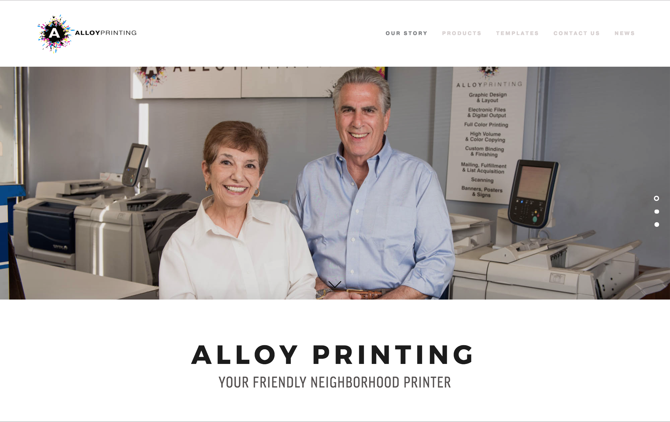 A new brand - Alloy Printing needed a new website when they re-branded after 30 years of successful business.