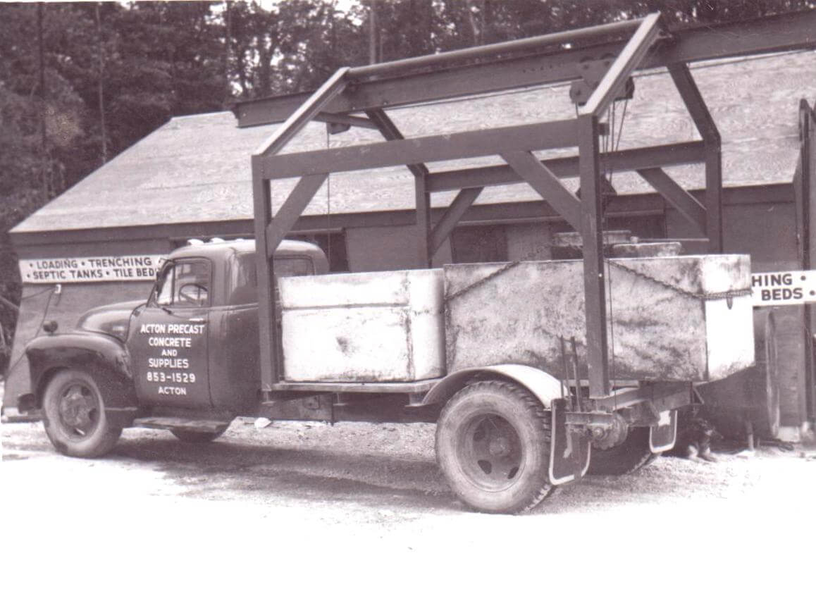 Septic tank delivery in the 60's