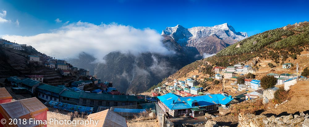 - Namche, the sherpa capital of the world.