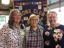 Founders Erica McEvoy (right) and Kim Johnson (left) with Royal Oak Lions Club member Joan.  We are grateful to be invited to special meetings to share our mission.
