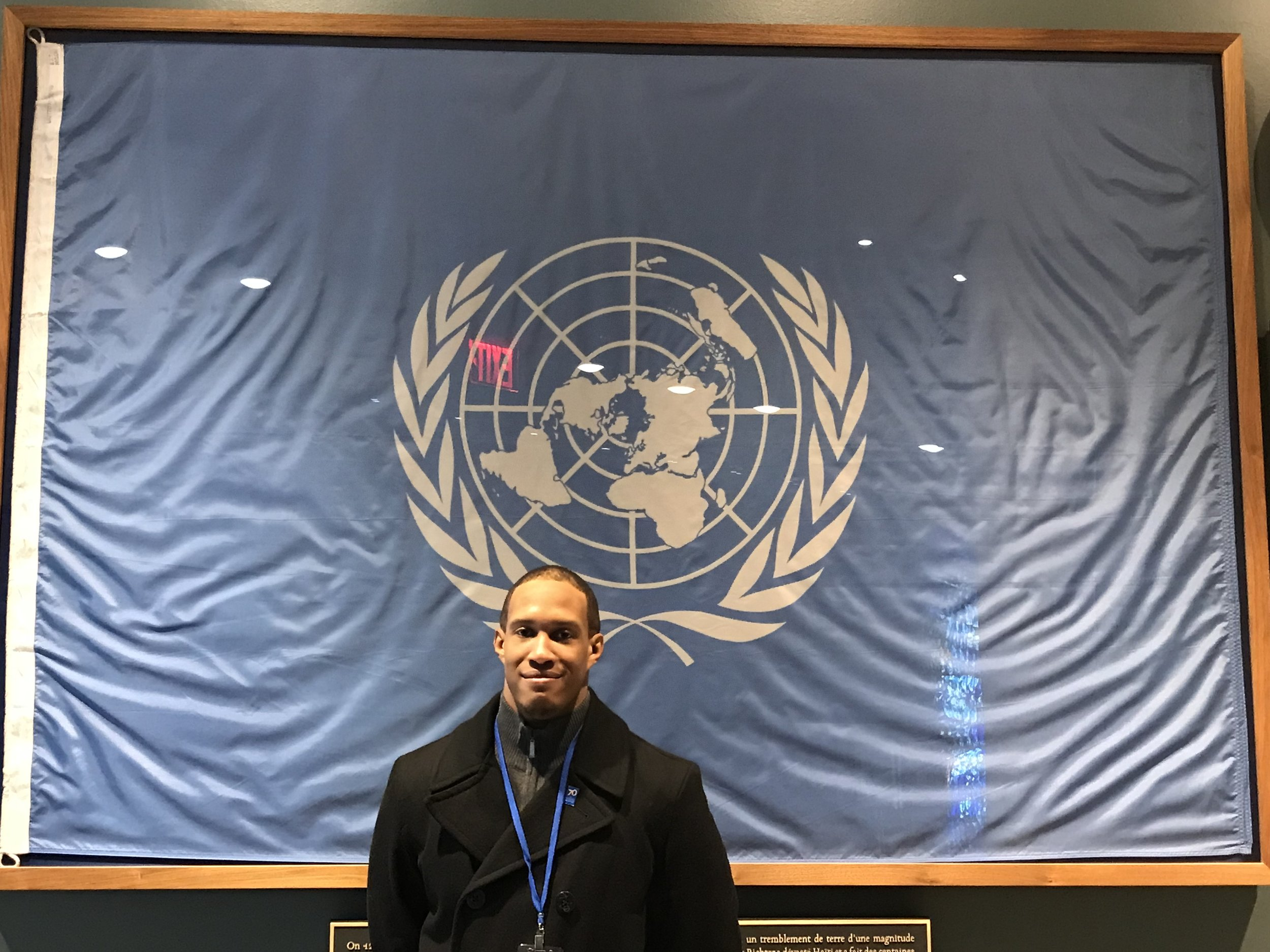 Director Julian McBride at the United Nations Headquarters in NYC.