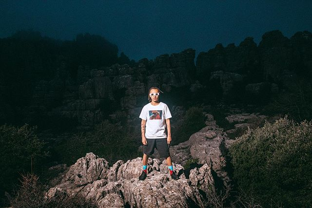 @eliassegujja getting abducted high up on the limestone formations of El Torcal de Antequera, about 30km from Malaga, Spain.  #SS19 @dedicatedbrand Styling/MUA @amandakrantz #SS19 @dedicatedbrand Styling/MUA @amandakrantz