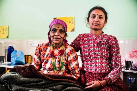 Juna Devi BhattArai  Juna Devi Bhattarai (54 yrs.), with her daughter Sanjita Bhattarai. Juna developed first signs of prolapse at 51. Her current workload includes farming, cooking, washing dishes and clothes, cleaning and looking after her grandchildren.