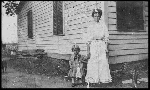 Ken with mother Hazel May Petteys (ca. 1905)