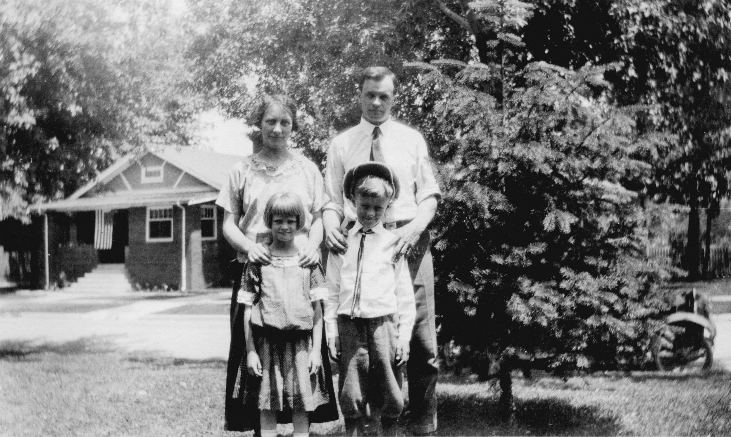 Harriet, Albert, Frances & Jack Roby