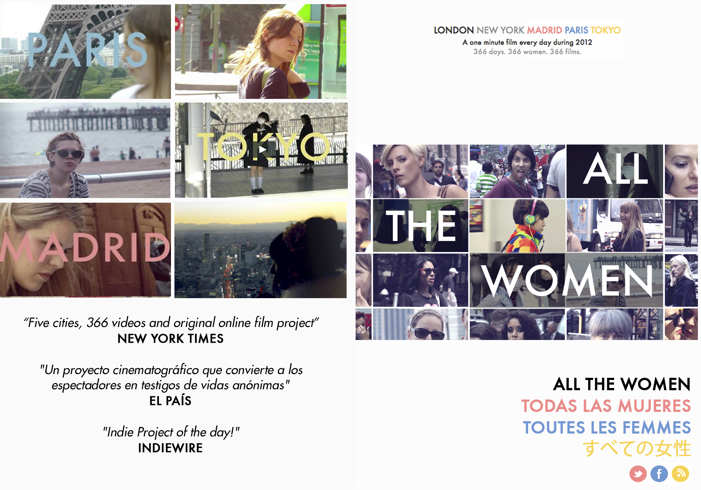 ALL THE WOMEN                                                                                                                                                                                                            2012, 366 mins. (1.85.1, HD) Documental.                                                                                                                                                                   Una producción de Pablo Maqueda.                                                                                                                                                                              VER ONLINE