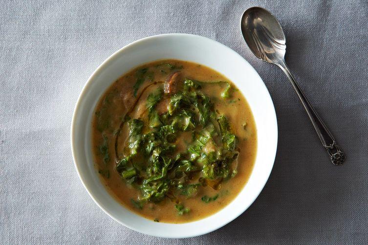 Portuguese Soup with Cauliflower , Chris Hagan via Food52
