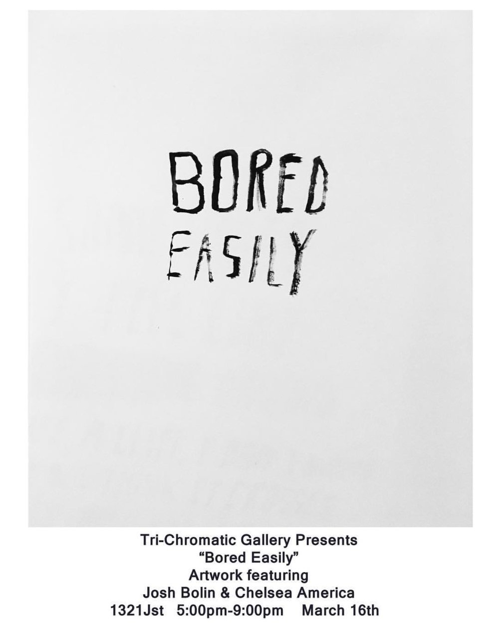 BORED EASILY POSTER