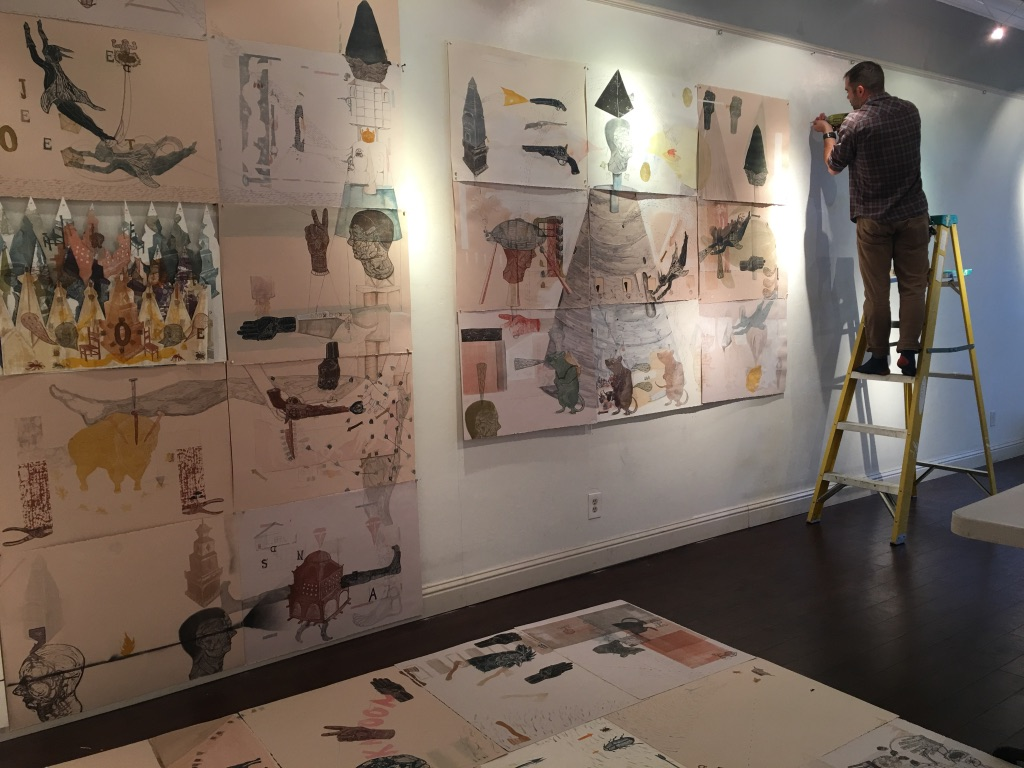 Martin Azevedo in the process of installing
