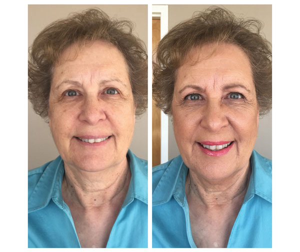 Before & After TIM makeup