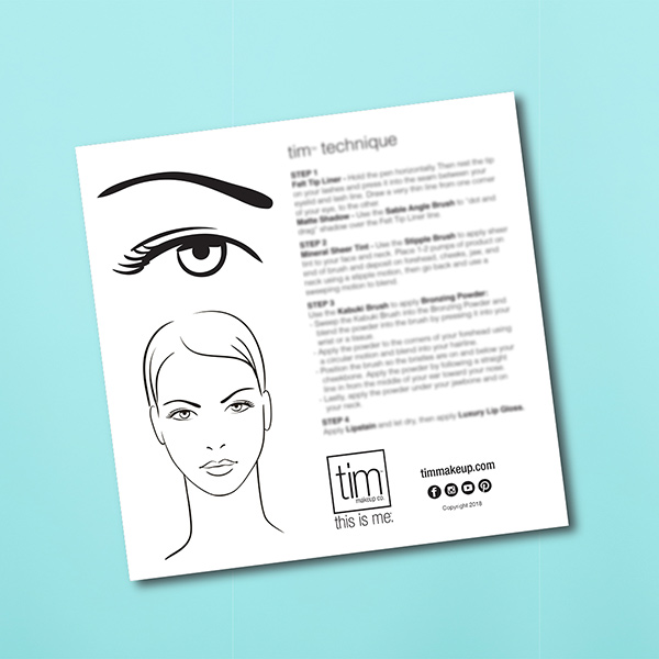 TIM Makeup Technique Face Chart