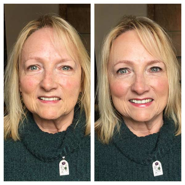 TIM Makeup before and after 70 + years of age