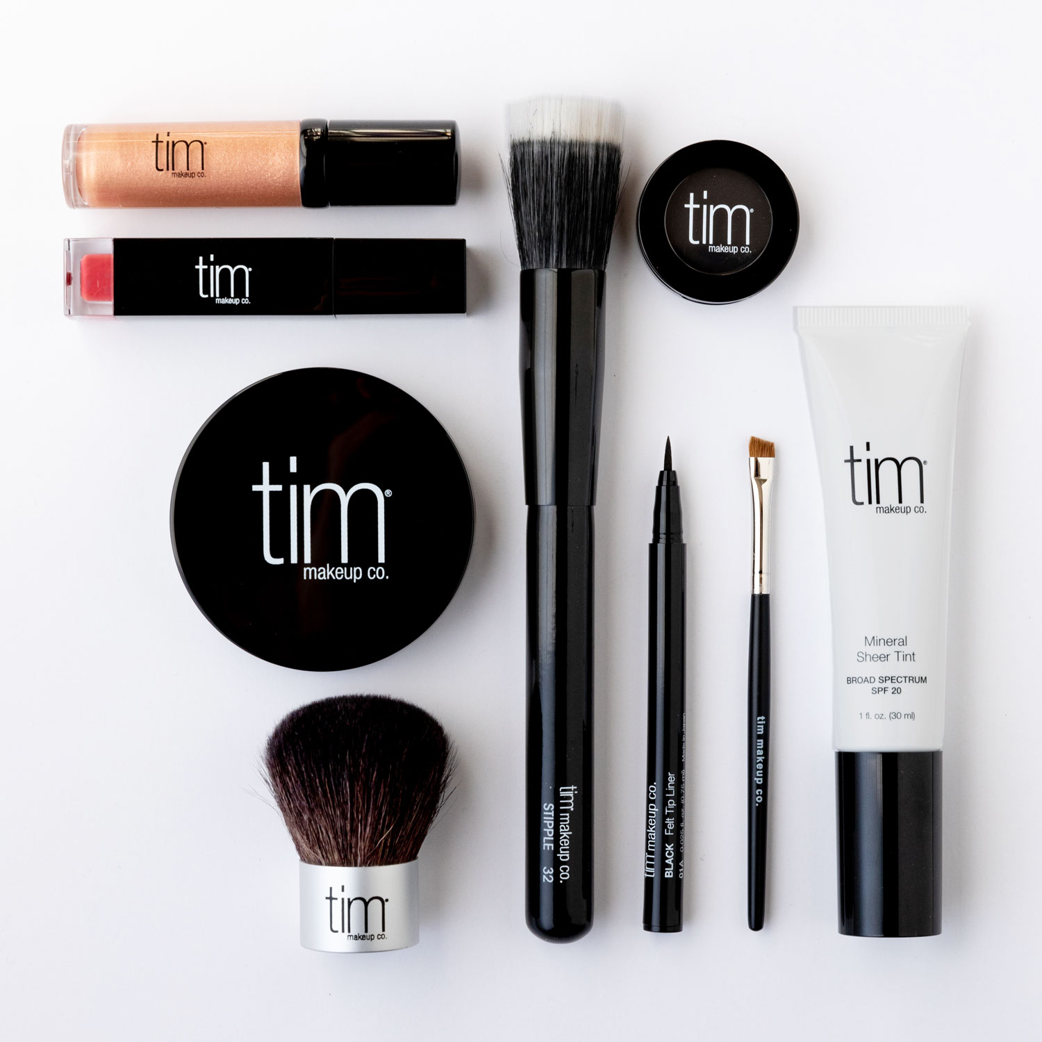The TIM Kit makeup products.