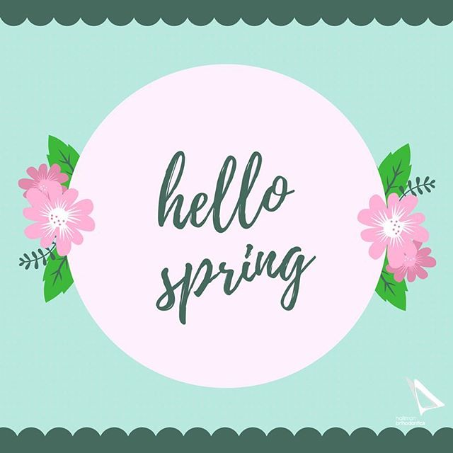 Hello Spring! Happy First Day of Spring! #spring #firstdayofspring #springsolstice #hallmanortho #hallmanorthodontics #hallmanorthodonticsmile