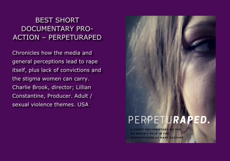 Perpeturaped won an award! - best short documentary
