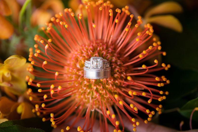 wedding rings, wedding flowers, rings, wedding, shawna yamamoto, event design, floral design
