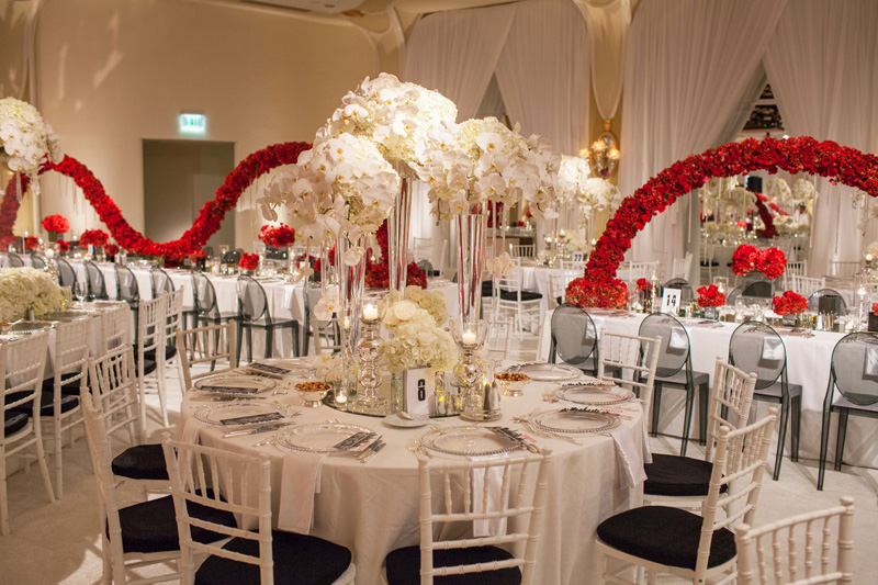 Shawna Yamamoto Floral Design | Mission Impossible Mitzvah at the Beverly Hills Hotel | Red and White _ (4).jpg