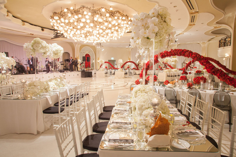 Shawna Yamamoto Floral Design | Mission Impossible Mitzvah at the Beverly Hills Hotel | Red and White _ (9).jpg