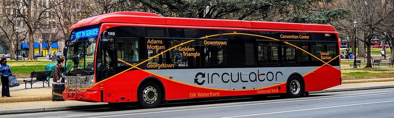 Circulator Bus in Downtown Washington, DC