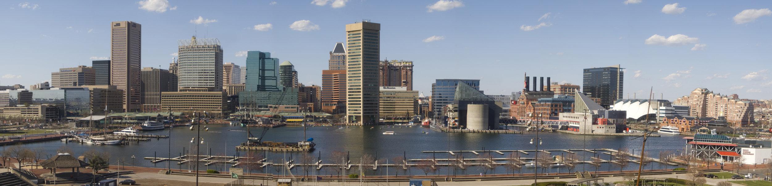 The Skyline of Baltimore's Inner Harbor