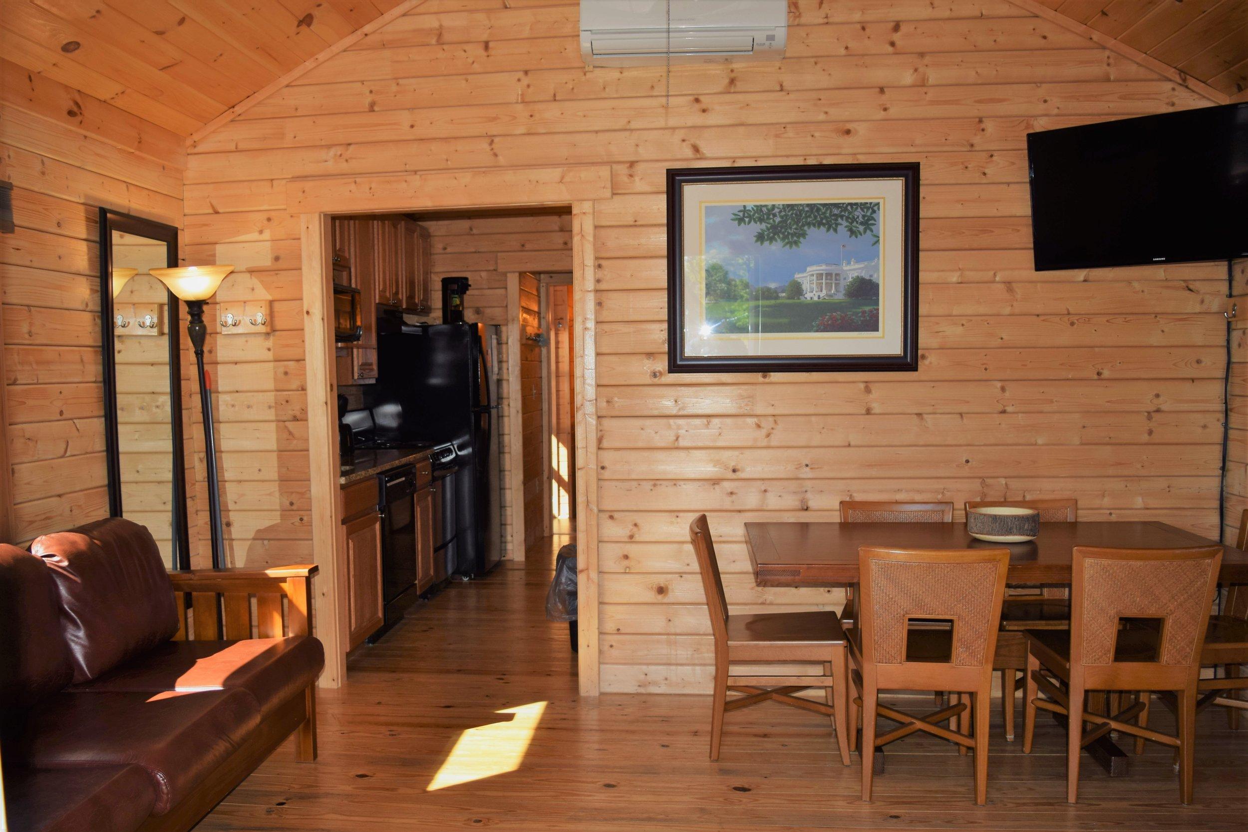 Premium Cabin Interior Living Room