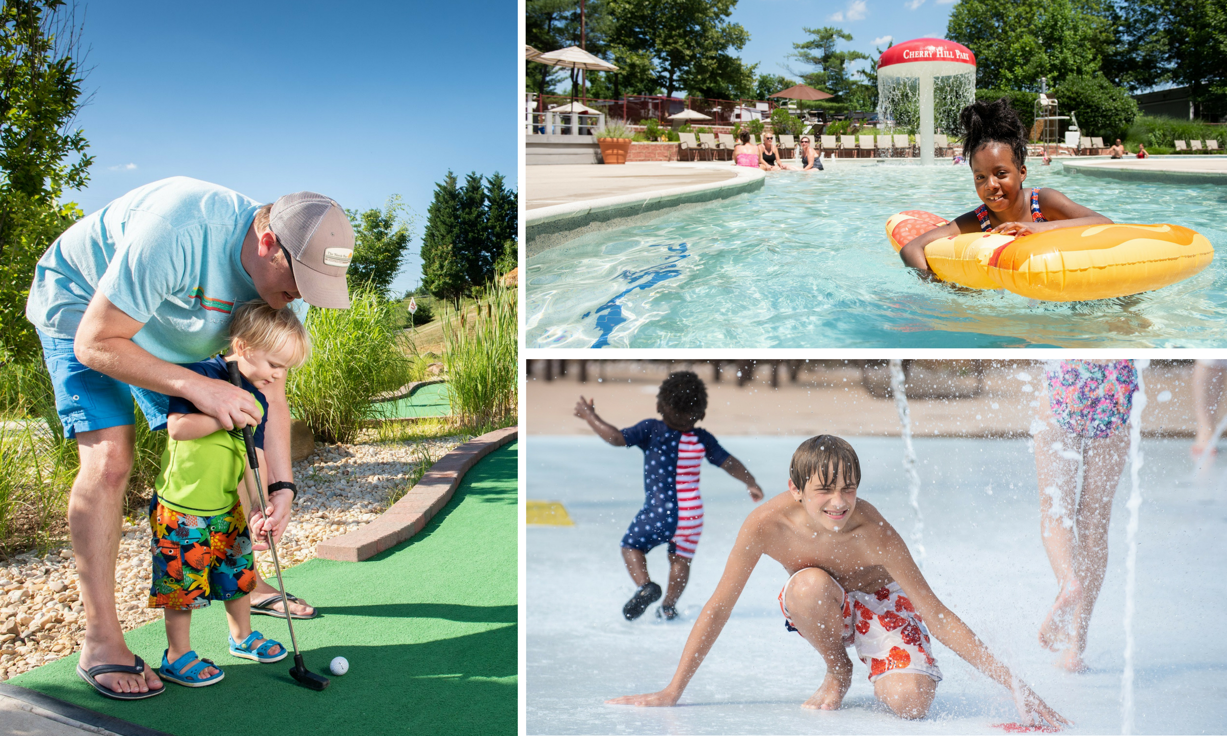 Guests Enjoy Mini Golf, Pools, and the Splash Park at Cherry Hill Park