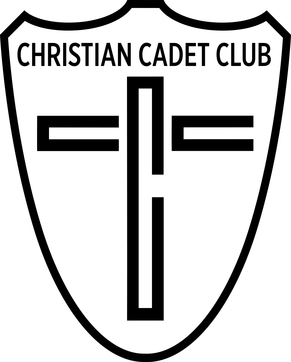 EmblemChristianCadetClubBandW.png