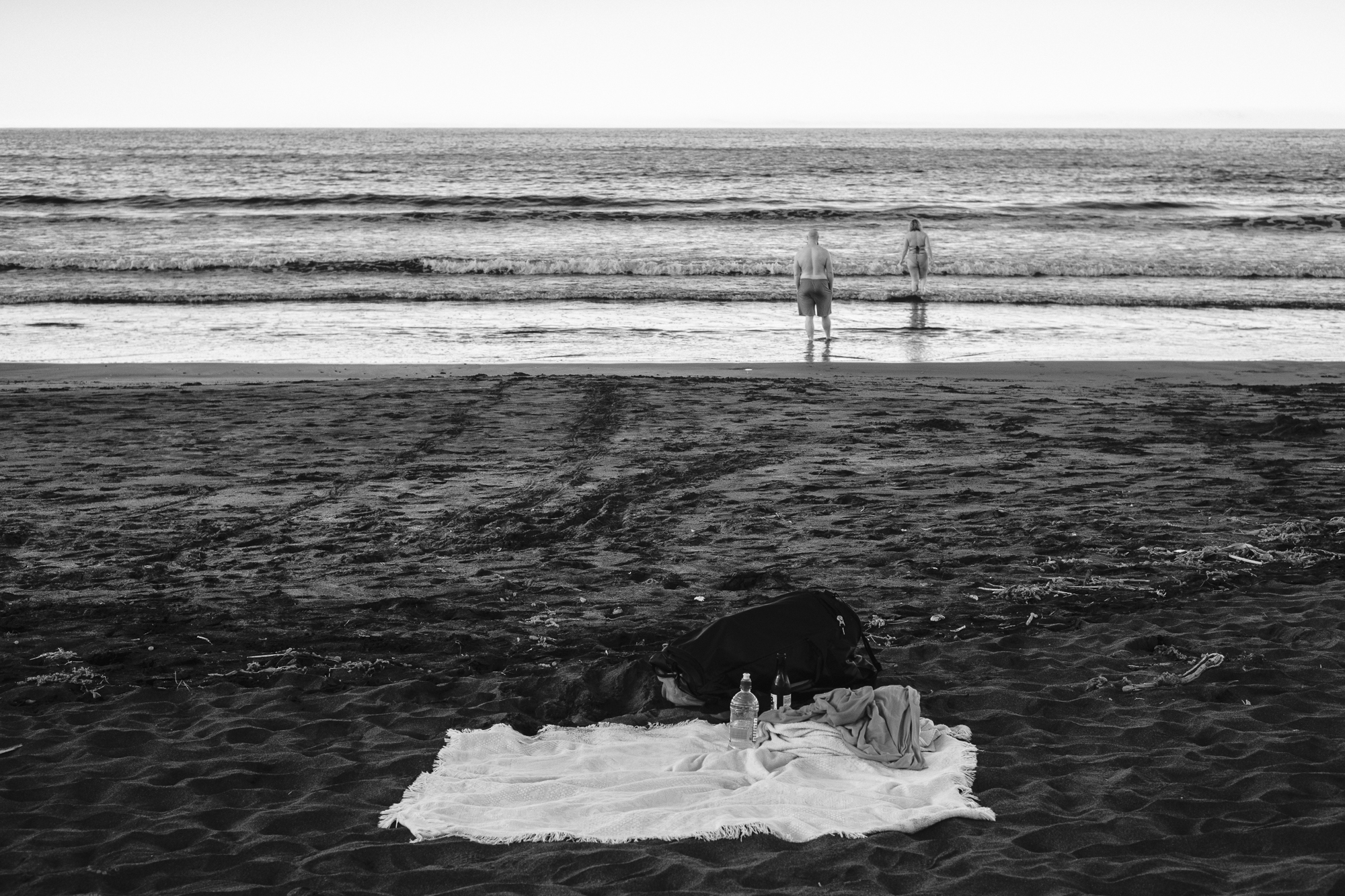 Wading Couple