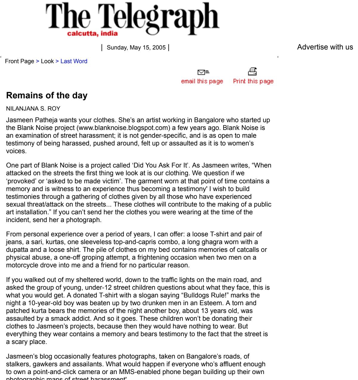 The Telegraph, 2005