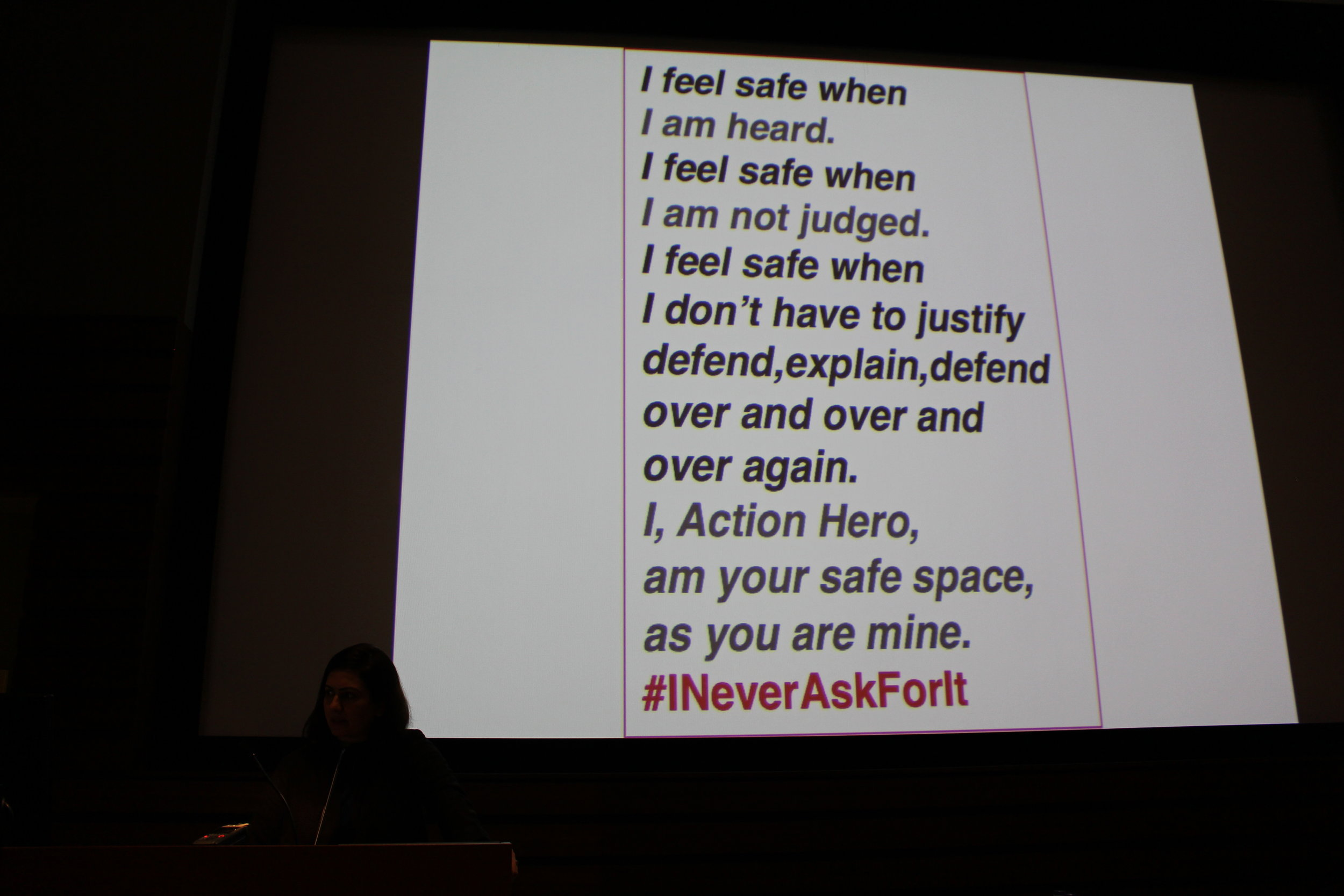 I Never Ask For It Talk @ Concordia University, 2018