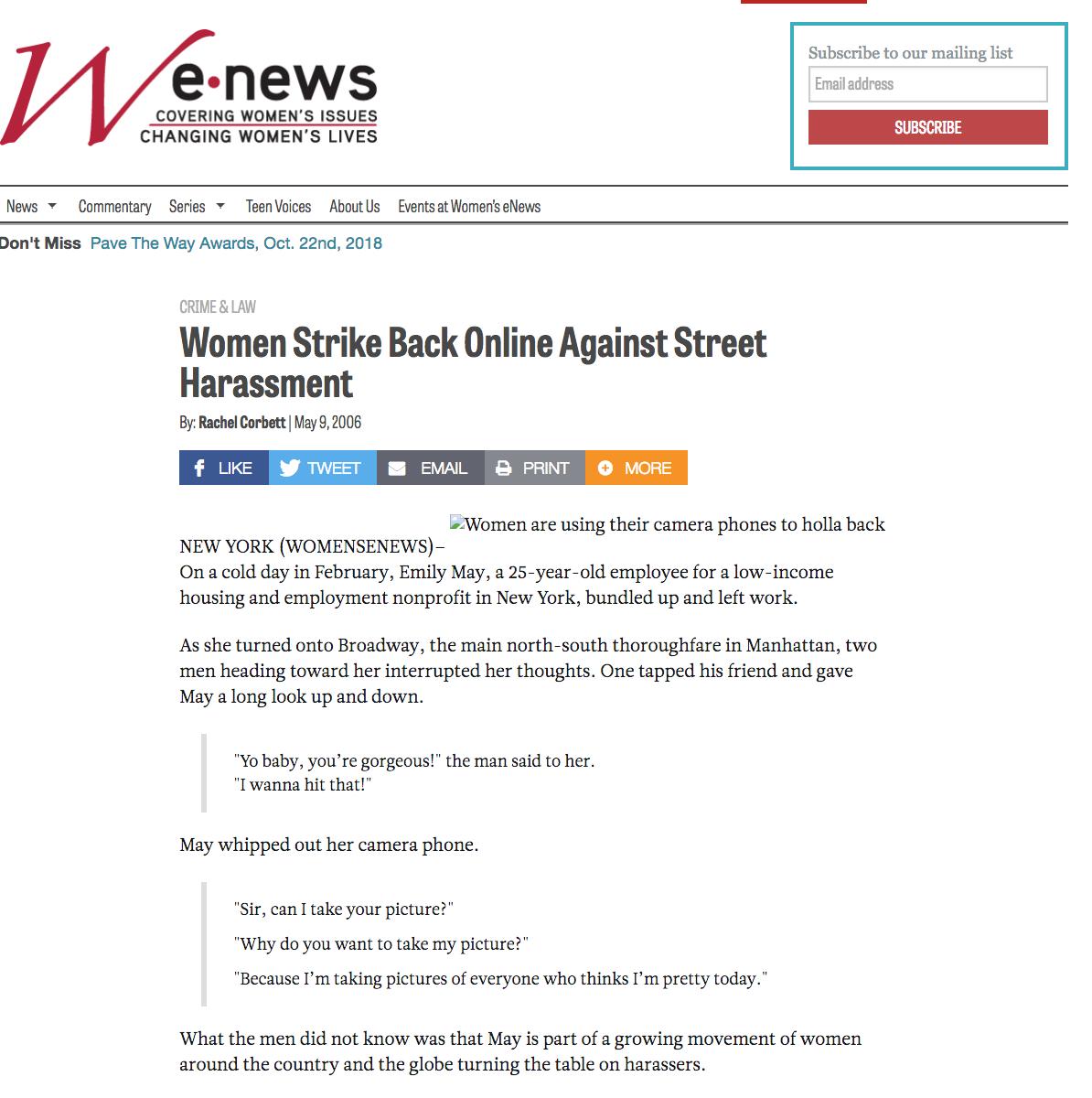 Women's E News, 2006