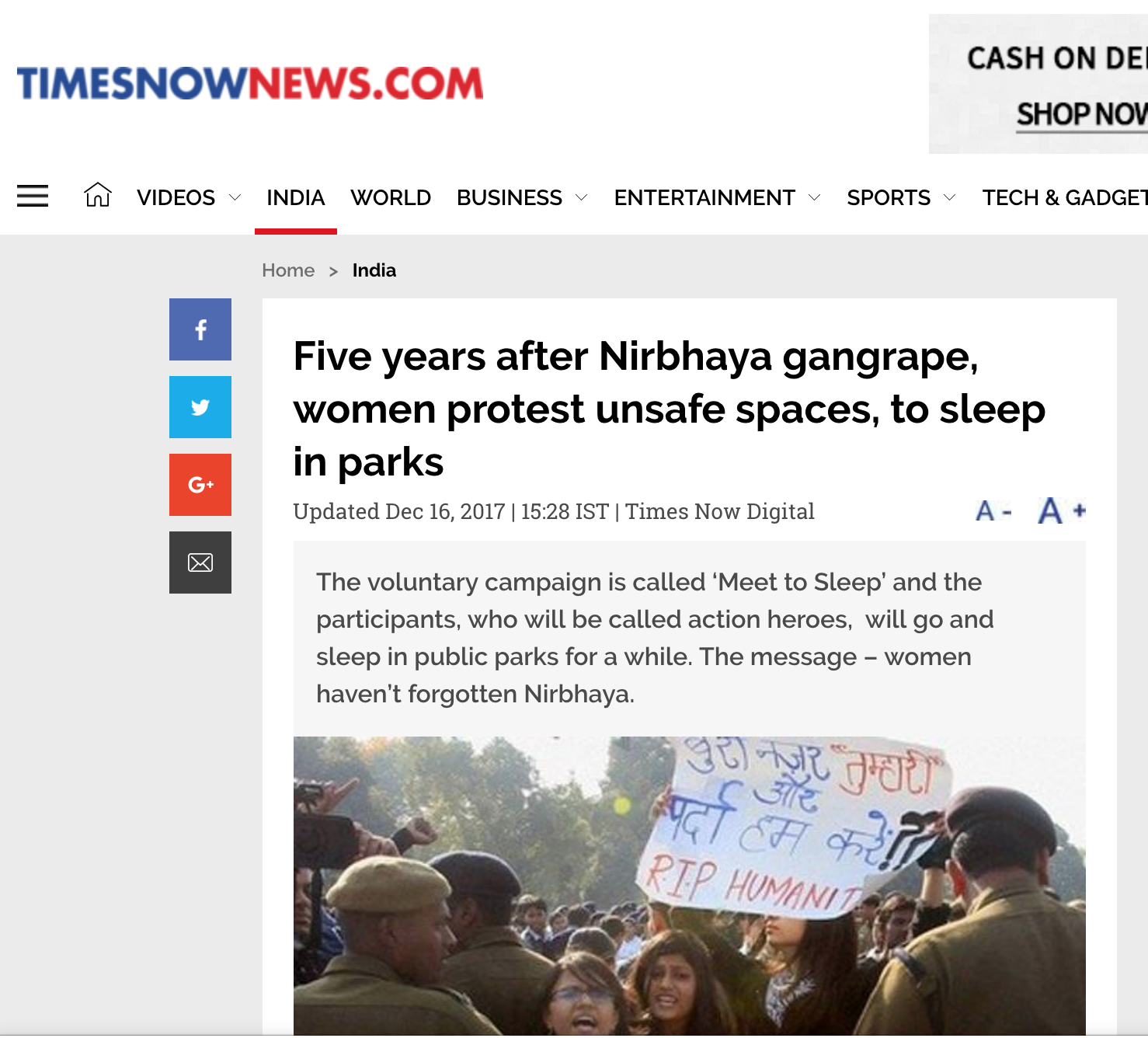 Times Now News, 2017