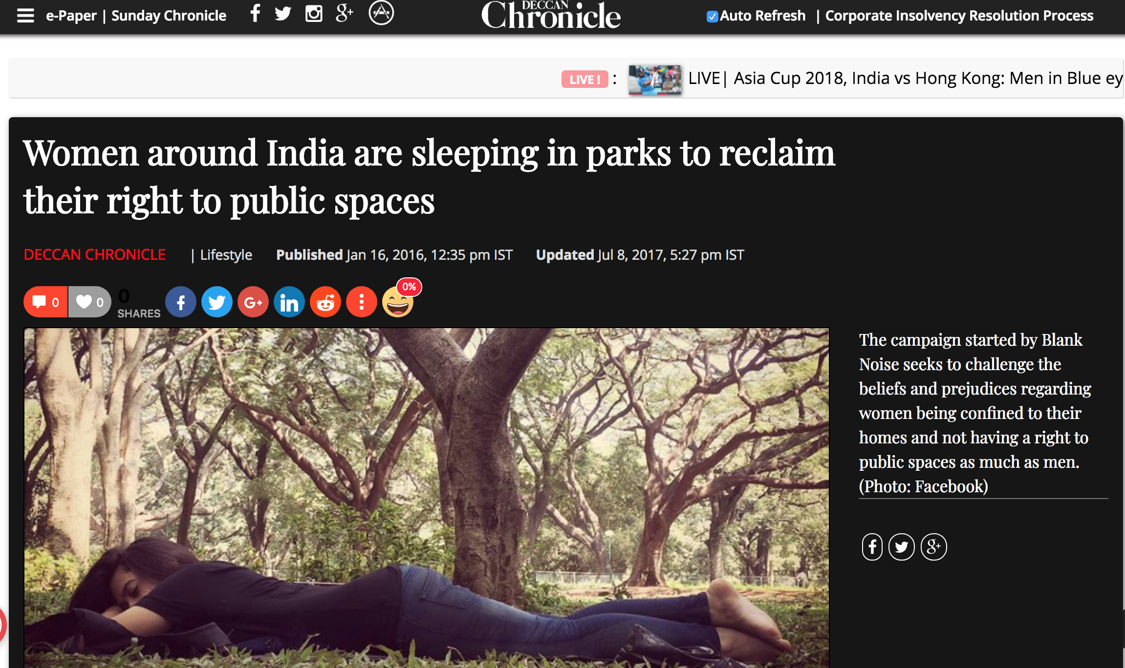 Deccan Chronicle, 2016