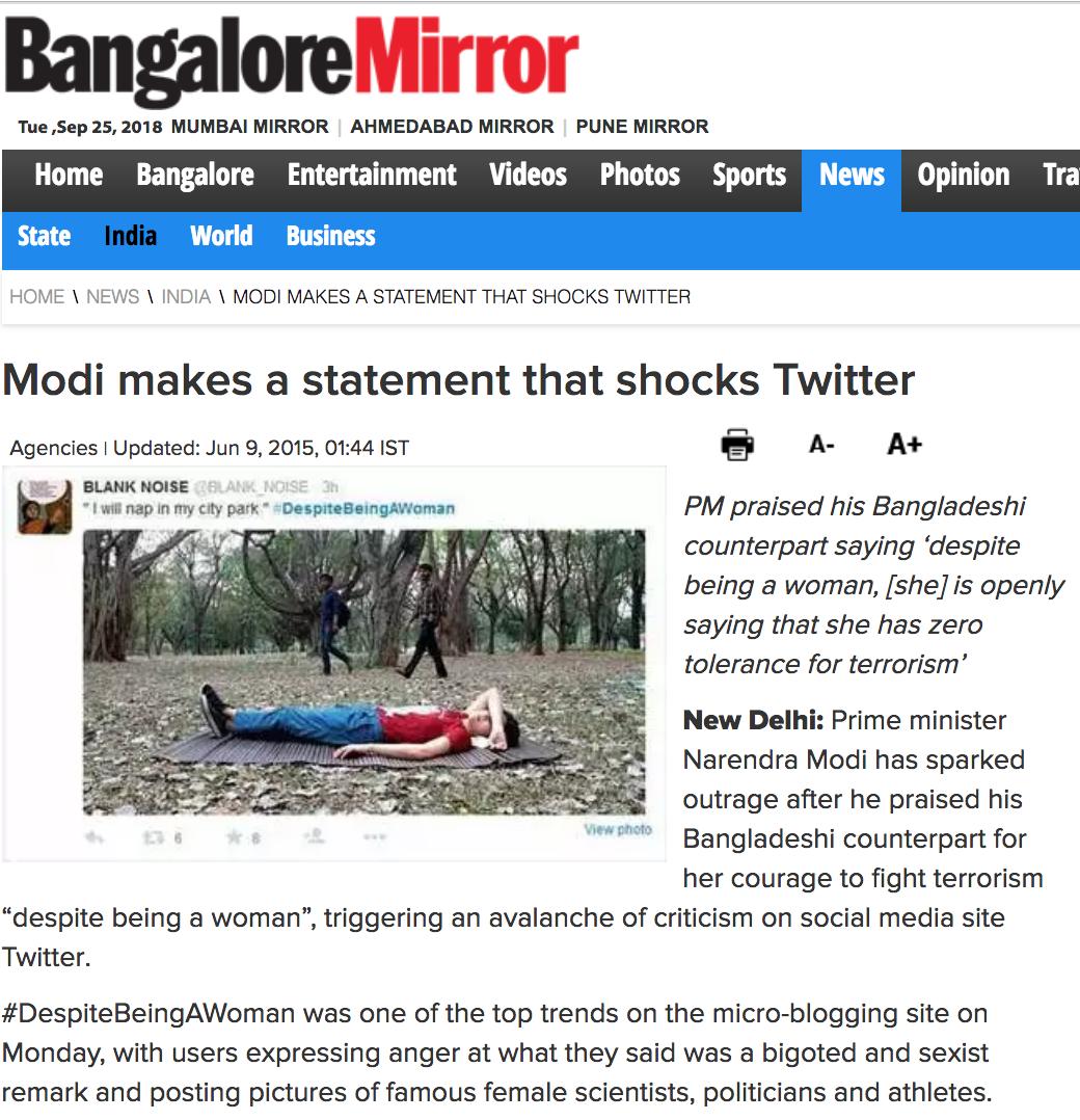 Bangalore Mirror, 2010