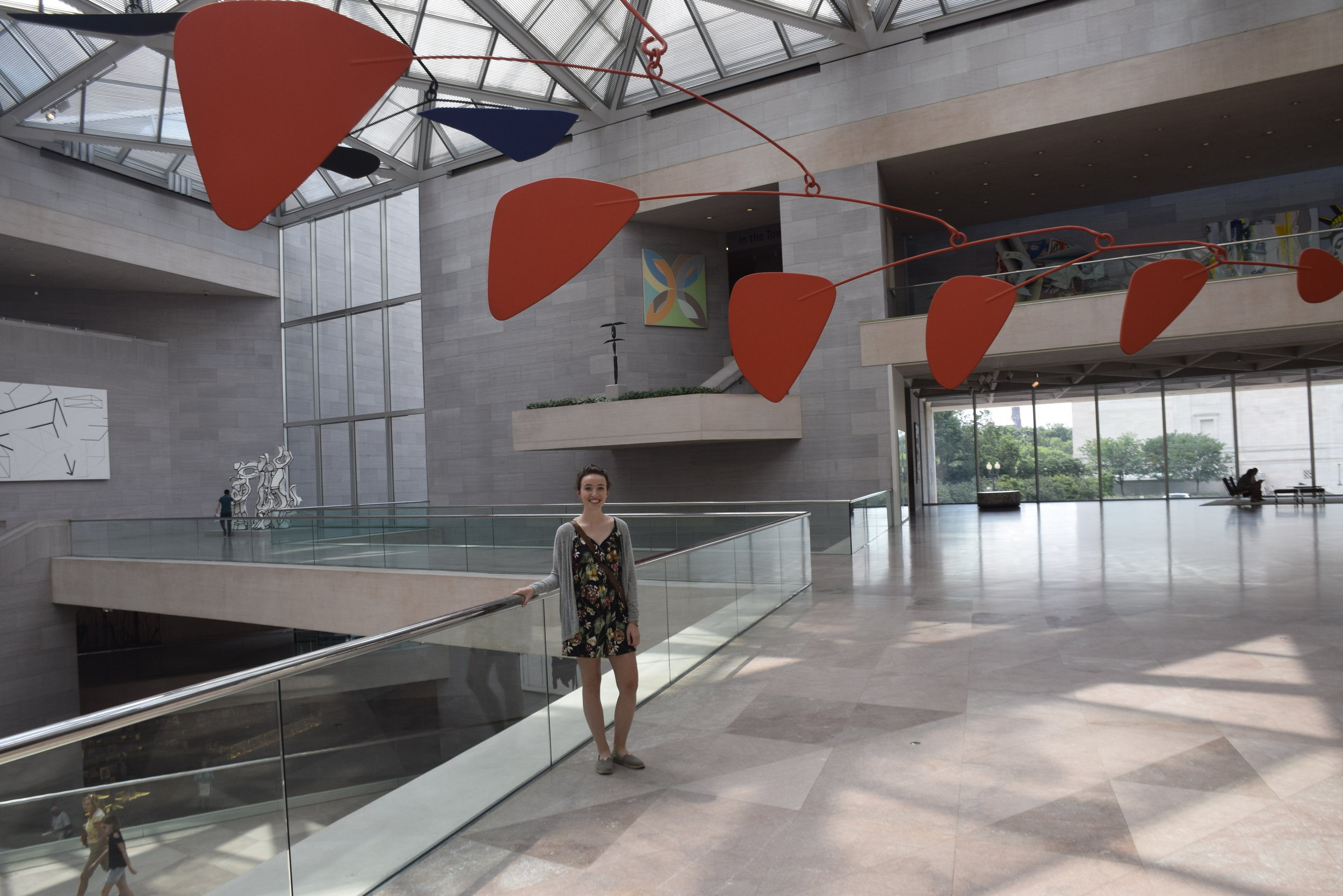 National Gallery of Art - Washington D.C. - A place that has always been an inspiration to me. Standing under one of my favorite artist's piece in a building designed by my favorite architect.