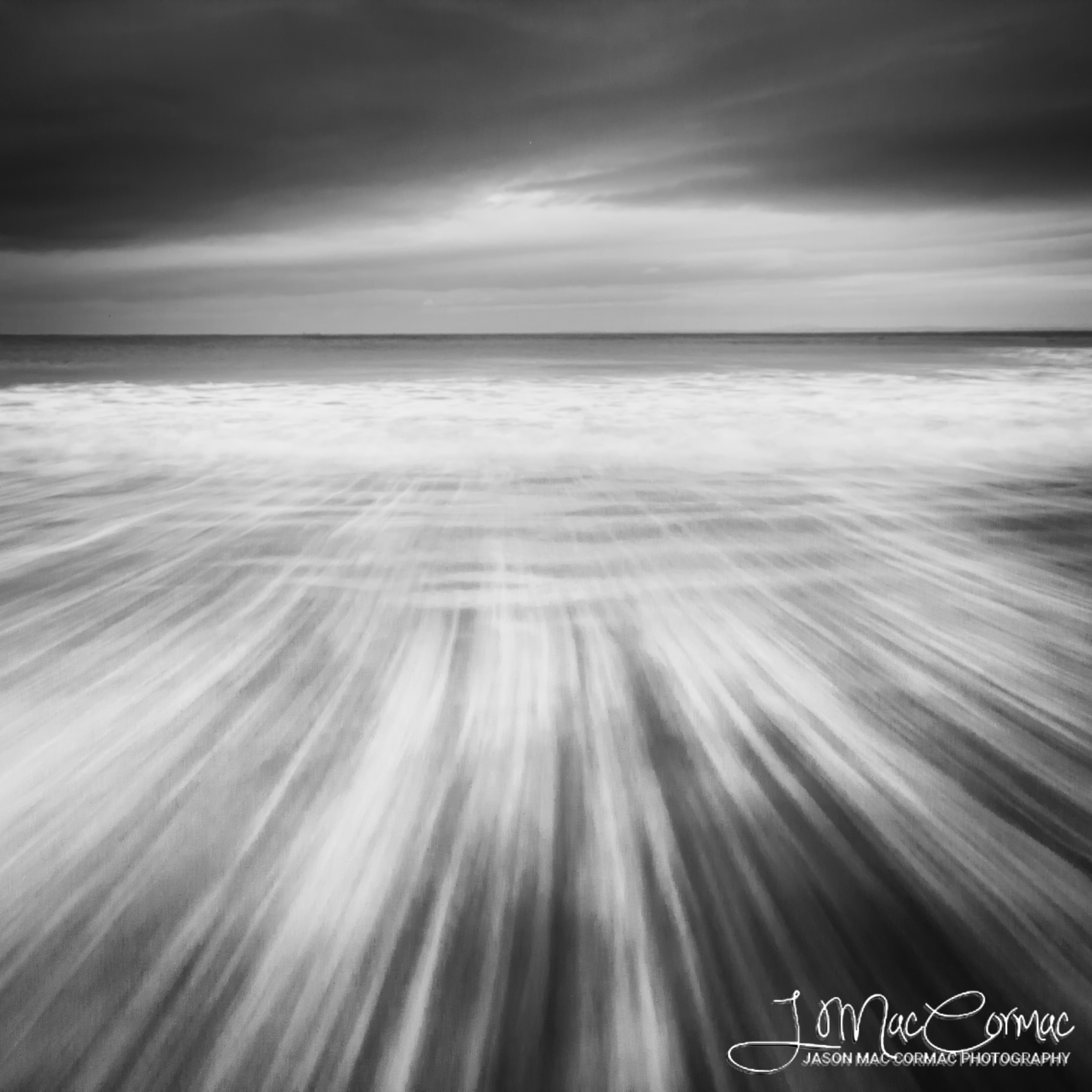 Black and White. Movement of the Ocean
