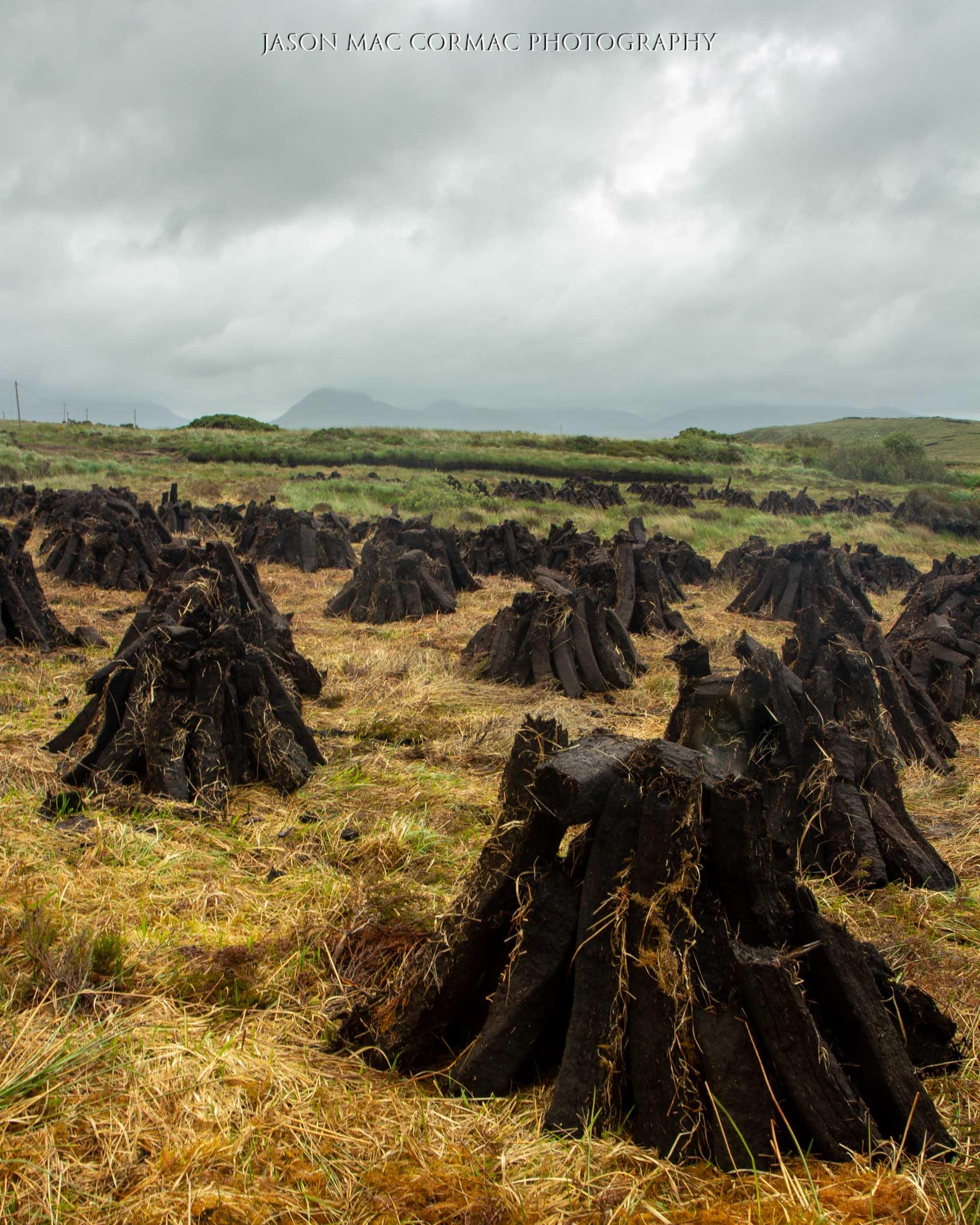 Drying turf in Connemara