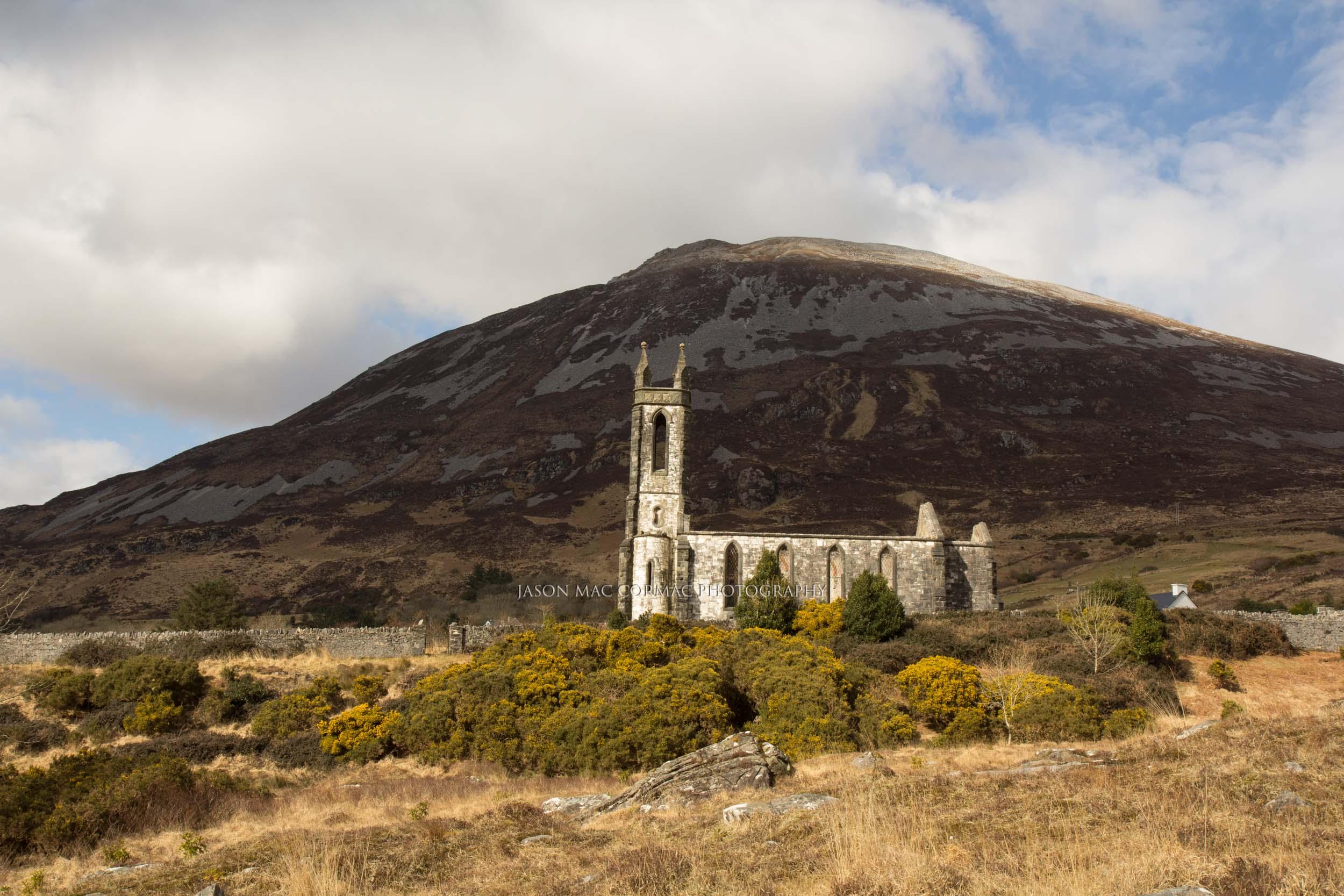 Dunlewey church below Errigal, Donegal