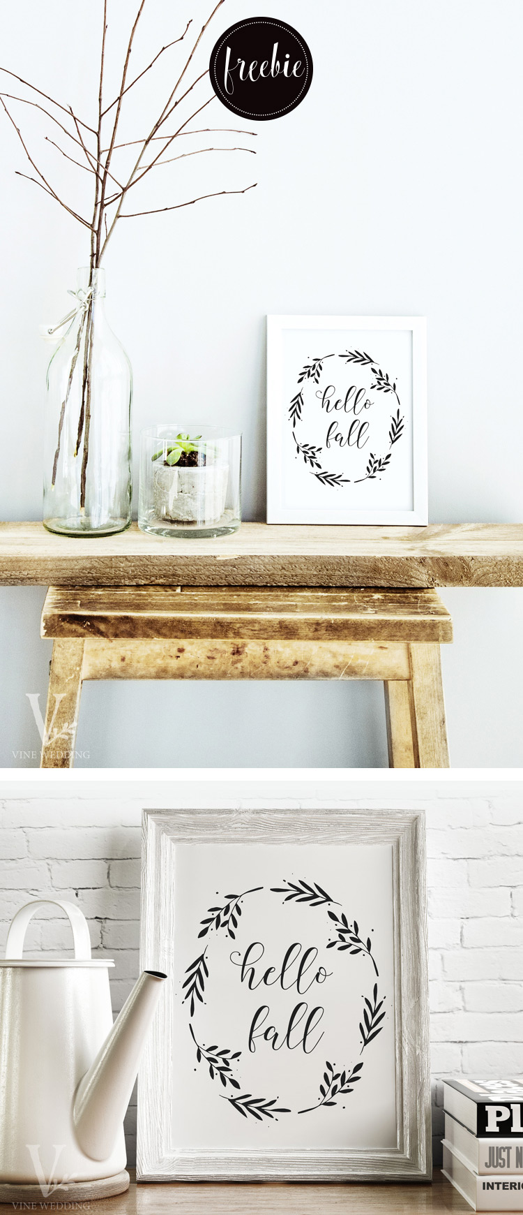Free Hello Fall Printable Wall Art